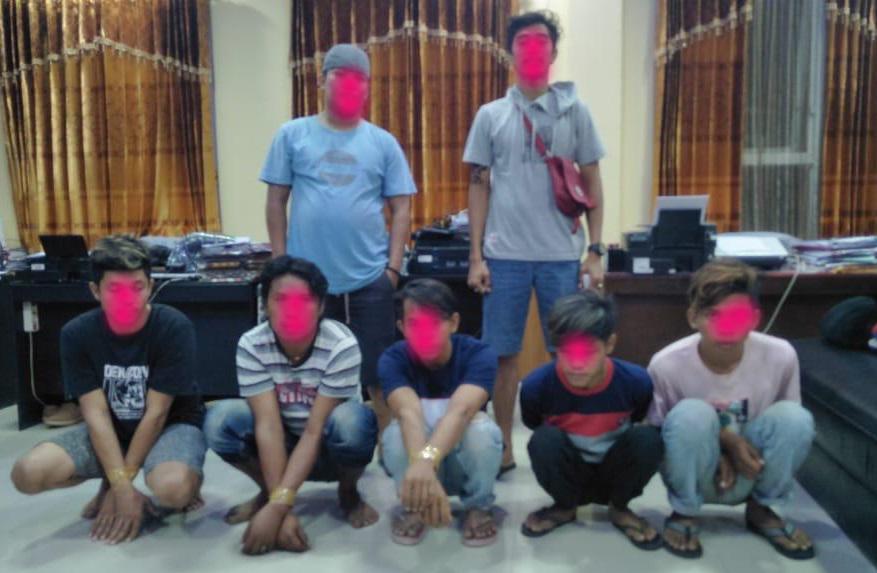 5 Pria diamankan Sat Reskrim